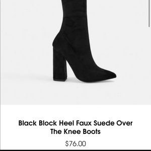 Missguided Black over the knee boots